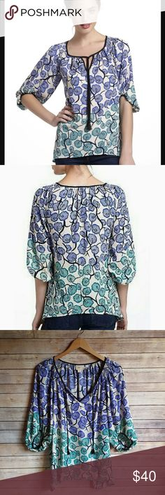 """Vanessa Virginia Blouse Branching Blooms Blouse by V+V. 100% polyester. 29"""" long at longest point and 20"""" across chest. Excellent condition! Anthropologie Tops Blouses"""
