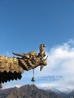 Tibet monastery rooftop