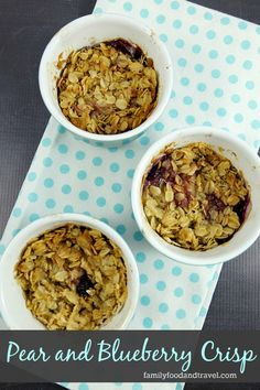 Pear and Blueberry Crisp Recipe