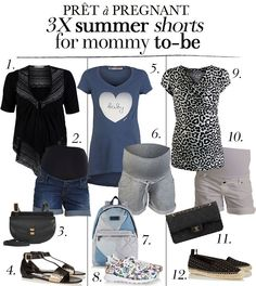 3X summer shorts for mommy to-be