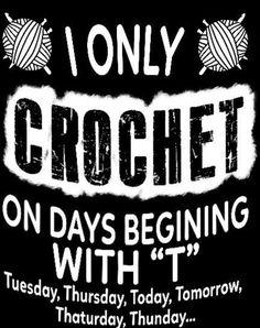 Knitting Humor, Crochet Humor, Knit Crochet, Funny Crochet, Chrochet, Dad To Be Shirts, T Shirts With Sayings, Crochet Designs, Crochet Patterns
