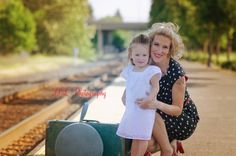 Vintage mother daughter ready for a train ride: rockabilly polka dot dress Girls Dresses, Flower Girl Dresses, Train Rides, Dot Dress, Rockabilly, Polka Dots, Daughter, Wedding Dresses, Kids