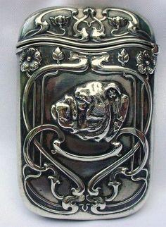 Incredible Bull Dog Gorham Sterling Match Safe Vesta RARE Antique | eBay