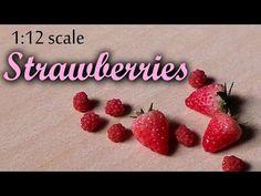 ▶ Miniature Strawberry - Polymer Clay Tutorial - YouTube