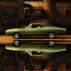 1968 Dodge Charger R/T Full Reflection 440 with a six pack I'll take it!