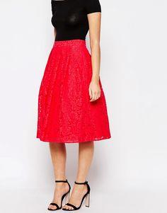 Image 4 ofOasis Lace Midi Skirt