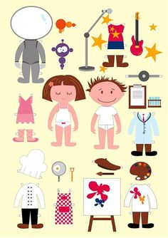 baby paper dolls printable için resim sonucu