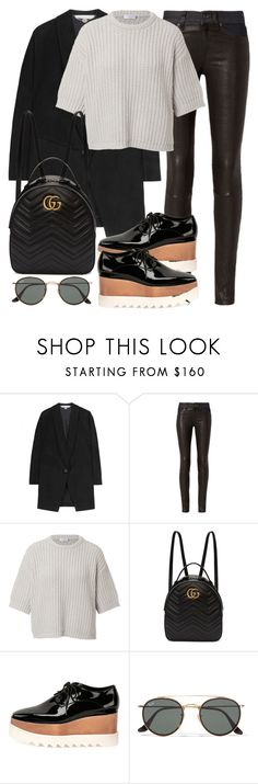 """Untitled #3141"" by elenaday ❤ liked on Polyvore featuring STELLA McCARTNEY, rag & bone, Brunello Cucinelli, Gucci and Ray-Ban"