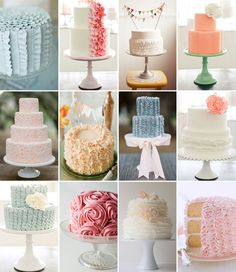 lots of ruffle cakes!