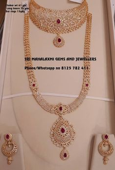 Light range Bridal jewellery new designs added. Presenting here is CZs Choker Long haar ear rings. Visit or call for full variety. Contact no 8125 782 411 for orders. Bridal Jewelry Sets, Bridal Earrings, Wedding Jewelry, Bridal Jewellery, Indian Jewelry Sets, Jewellery Diy, India Jewelry, Diamond Jewellery, Gold Earrings Designs