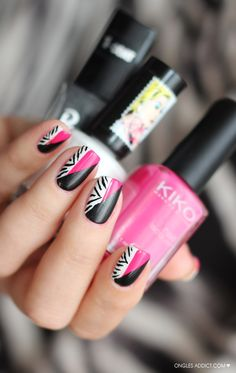 zebra addiction | La version Nail Art Zebra de Ongles addict pour le Twin Eternail.