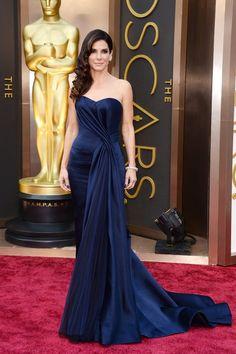 Oscars 2014: Sandra Bullock in Alexander McQueen.