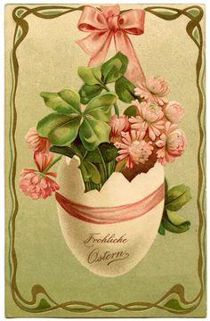 vintage easter images   Clip Art of Vintage German Easter Egg
