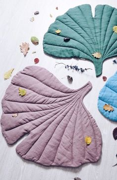 Simple Ideas for Home: Textile Leaves as Blankets and Carpets - Livemaster - original item, handmade