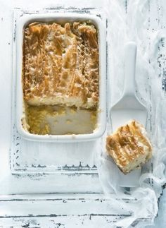 Greek-style lemon pie with phyllo pastry