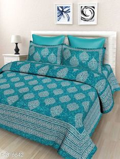 Checkout this latest Bedsheets Product Name: *Exotic Cotton Jaipuri Screen Printed Double Bedsheet* Fabric: Bedsheet - Cotton Pillow Covers - Cotton Dimension: ( L X W ) - Bedsheet - 94 in  X 88 in Pillow Cover - 27 in x 17 in Description: It Has 1 Piece Of Double Bedsheet & 2 Piece Of Pillow Cover Work: Jaipuri Screen Printed Work Thread Count: 160 Country of Origin: India Easy Returns Available In Case Of Any Issue   Catalog Rating: ★4.3 (1421)  Catalog Name: Core Designed Royal Cotton Double Bedsheets Vol 1 CatalogID_102119 C53-SC1101 Code: 844-876642-249