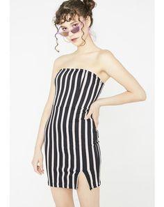 3941eba48f Luveries Dress  dollskill  motel  dress  striped  tubetop Motel Clothing