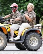 Honey Boo Boo's Mama June Shannon, Sugar Bear Leave Wedding on an ATV: Pictures
