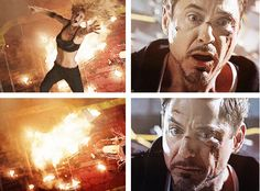 """I'll catch you.  I promise.""  (""Iron Man 3"") This scene didn't make me tear up, it made me cry the dam Nile River!"