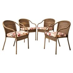 Devonport 4 Piece Wicker Patio Dining Chair Set Possible Chairs Target