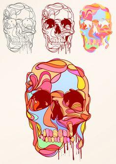 skull / colors / drawing