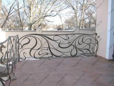 Notice: Undefined index: treppengelander-ausen in /home/coftphzm/htdocs/templates/default. Wrought Iron Stair Railing, Stair Handrail, Wrought Iron Doors, Banisters, Railing Design, Gate Design, Urban Architecture, Architecture Details, Art Deco