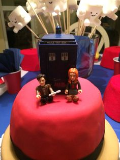 Cake topper for Dr Who party