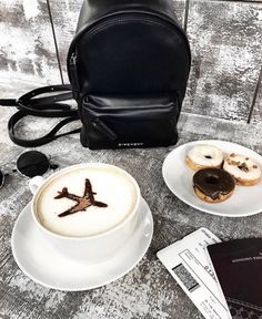 ideas for travel essentials photography wanderlust Coffee Art, Coffee Shop, Coffee Cups, Coffee Lovers, Givenchy Backpack, Pause Café, Coffee Photography, Airplane Photography, Travel Photography