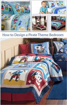 Kids Bedroom Design Ideas: Article on how to design a pirate theme room.