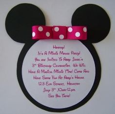 Minnie Mouse invite party-time