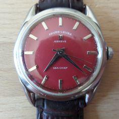 Favre Leuba Sea-Chief - Large dial, 18mm lug, Guaranteed Genuine, rare Retro/Vintage Swiss made gents manual mechanism wristwatch. by EWcoLondon on Etsy