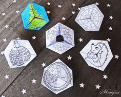 Winter and Christmas Flextantangles for Kids to Make and Play With