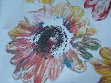 Multicolured flower stamp...a tutorial