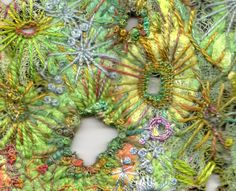 Freckles and Flowers. Lichen embroiderey.