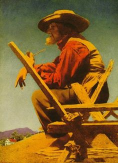 The philosopher (The farmer) by Maxfield Parrish