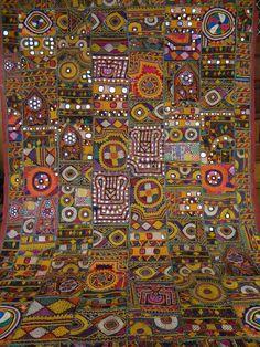 indian old textiles/vintage mirror work and by jaisalmerhandloom