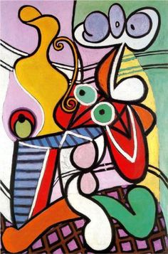 ...Great Still life on pedestal - Pablo Picasso