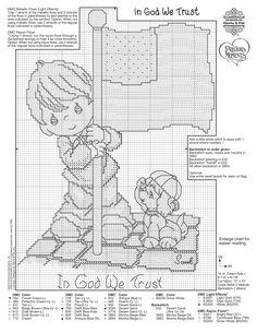 "Precious Moments ""In God We Trust"" Cross Stitch Pattern"