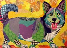 Zoo Zoo is a bright, colorful, animal-themed line of greeted cards that features the collages of Laura Yager.