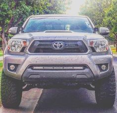 Large and in charge! Toyota Tacoma 4x4, Tacoma Truck, Toyota Hilux, Toyota Supra, Tacoma Accessories, Truck Accessories, Toyota Trucks, Cool Trucks, Toyota Land Cruiser