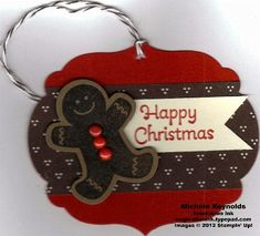 tag christmas Gingerbread cookie man by Michelerey - Cards and Paper Crafts at Splitcoaststampers