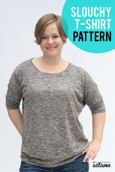 the slouchy batwing top pattern {easy + flattering!} - It's Always Autumn