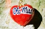 Ole Miss cloisonne heart Christmas ornament by Kitty Keller
