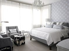 white/gray bedroom