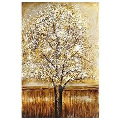 Fanciful Tree Art - Gold  -- I am just in love with this