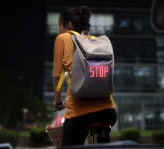 Signaling Backpack Lights Up the Night, Keeps Bikers Safe | Gadgets, Science & Technology