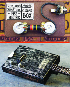 Cigar Box Guitar Building and pickups from http://www.reddogguitars.com/ 1950's Pickup wiring - USA made product #3stringguitar #cigarboxguitar #reddogguitars