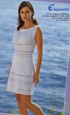 платья, юбки                                                       … Crochet Summer Dresses, Crochet Skirts, Crochet Blouse, Crochet Clothes, Crochet Lace, Knit Dress, Crochet Jumper, Jumper Dress, Easy Crochet