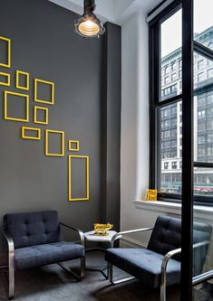 Office wall ideas Decal Just For The Visual Of Yellow Accents On Grey Walls Office Wall Colors Office Wall Pinterest 137 Best Office Wall Decor Images Design Offices Diy Ideas For