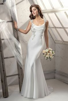 The Sottero and Midgley autumn collection Viola #wedding #dress #bride #glamorous #sheath #silk #embellished #sexy